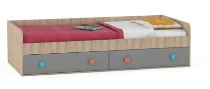 Кровать Доминика 453 бук песочный/серый шифер 204х94х52, сп. м. 900х2000 мм.