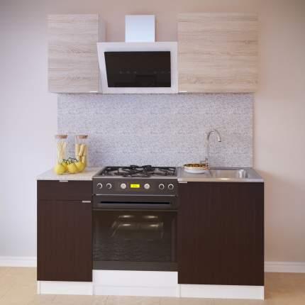 Прямой кухонный гарнитур Сокол ПН-04+ТК-04.1+ПН-06+ТК-06м Белый / Дуб сонома, Венге