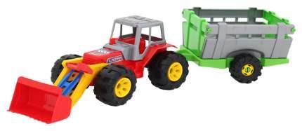 """Трактор """"Лазер"""", с ковшом и тележкой"""