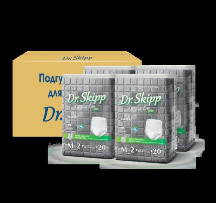Подгузники для взрослых Dr. Skipp Active Line Plus размер 2 80 шт. (4 х 20 шт.)