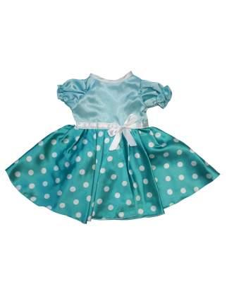 Платье  Мята для куклы Колибри 117 Бирюзовый,белый