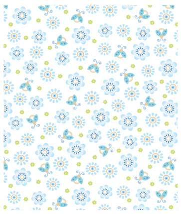 Плед Baby Nice Цветы, 100х118 см, голубой