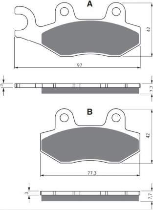 Тормозные колодки GoldFren 002 S33