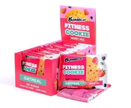 Овсяное печенье Fitness Cookie Bombbar, упаковка 12шт по 40г