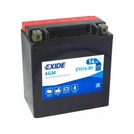 Аккумулятор EXIDE ETX16BS