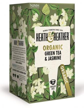 Чай зеленый Heath&Heather с жасмином 20 пакетиков