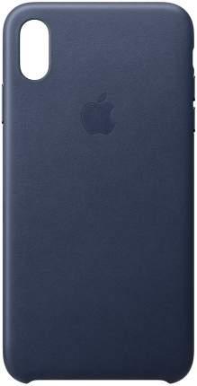 Кейс для iPhone Apple Leather XS Max кожаный темно-синий MRWU2ZM/A