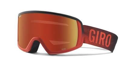 Горнолыжная маска Giro Scan 2016/2017 темно-красная/оранжевая M
