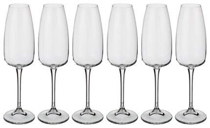 Набор бокалов CRYSTALITE BOHEMIA eustacia для шампанского 290 мл 6шт