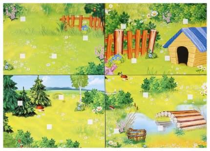Развивающая Игра с липучками Умка Мама и Малыши 7 Листов Картона 210Х150 Мм