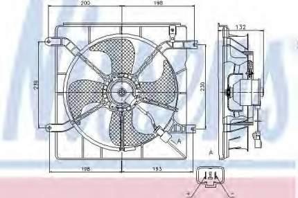 Вентилятор радиатора Nissens 85046