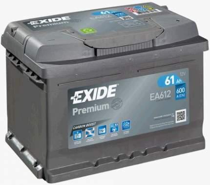 Аккумулятор автомобильный EXIDE EA612 61 Ач