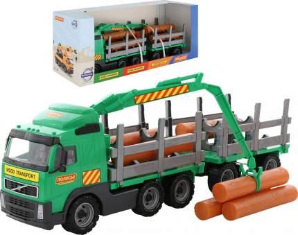 Автомобиль-лесовоз с прицепом в коробке Volvo 9500_PLS