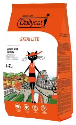 Сухой корм для кошек Dailycat Casual Line Steri Lite, для стерилизованных, индейка, 10кг