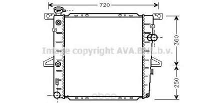 Радиатор охлаждения двигателя Ava FD2026