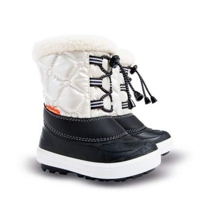 Сапоги Demar Furry 2 черный белый натуральная овчина шнурки р.28-29