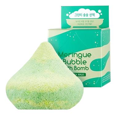 Пенная бомбочка для ванны A'PIEU Meringue Bubble Bath Bomb (Green Tea Walk)