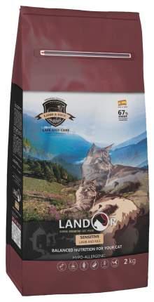 Сухой корм для кошек Landor Sensitive, ягненок, 2кг