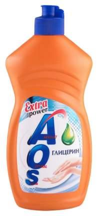 Средство для мытья посуду жидкое AOS глицери 450 г