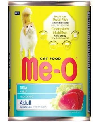 Консервы для кошек Ме-О, тунец, кусочки, 400г