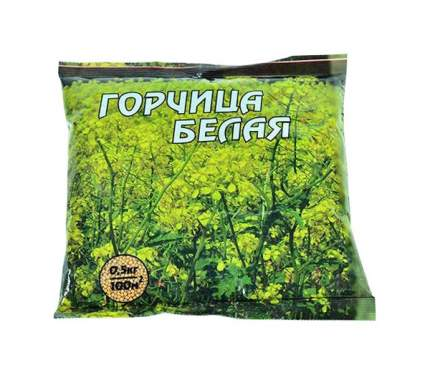 Семена Горчица белая Рапсодия 0,5 кг Зеленый ковер