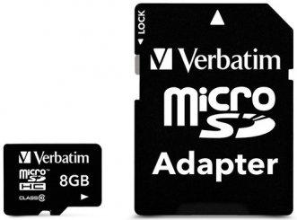 Флеш карта microSD 64GB Verbatim microSDXC Class 10 (SD адаптер)