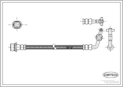 Шланг тормозной CORTECO 19032946