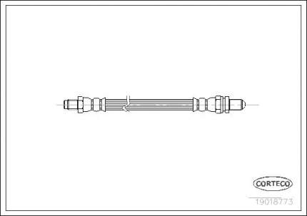 Шланг тормозной CORTECO 19018773