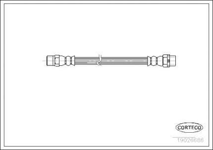 Шланг тормозной CORTECO 19026686