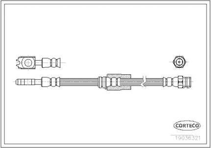 Шланг тормозной системы CORTECO 19036321