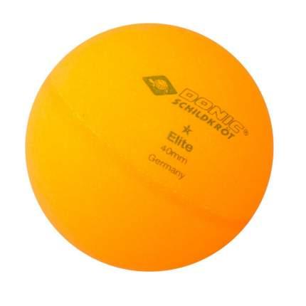 Мячи для настольного тенниса Donic Elite 1 оранжевые, 6 шт.