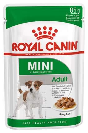 Влажный корм для собак ROYAL CANIN Mini Adult, для мелких пород, мясо, 85г