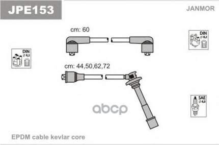 Комплект проводов зажигания JANMOR JPE153