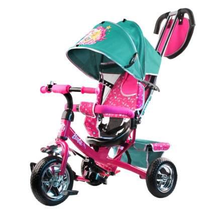 Велосипед-коляска трехколесный Barbie бирюзовый HB7TS
