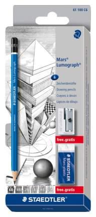 Карандаши чернографитные Staedtler Lumograph 100 61100C6