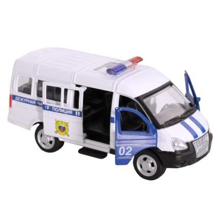 Машинка металлическая Автопанорама Полиция, белая, 1200070