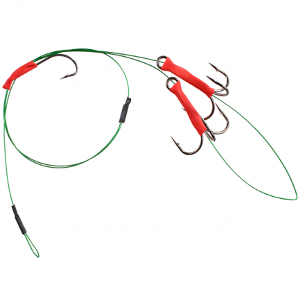 Поводок Mikado X-Plode 2 шт. с двумя тройниками №1 и крючком