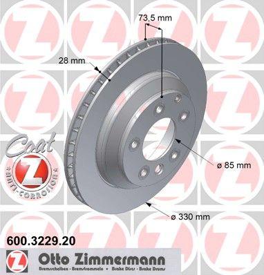 Тормозной диск ZIMMERMANN 600.3229.20
