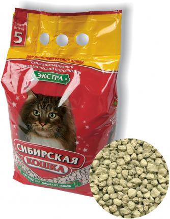 Наполнитель Сибирская кошка Экстра Впитывающий 20 л Без запаха