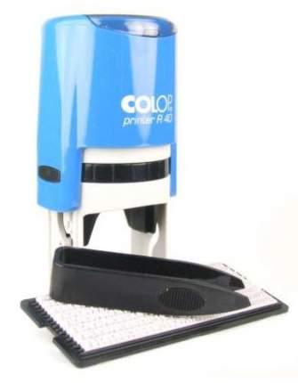 Самонаборная печать Colop Printer R40/2 SET РУС. Диаметр поля: 40 мм. Кол-во кругов: 2.