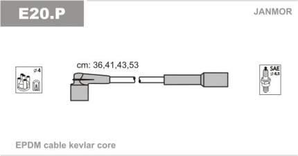 Комплект проводов зажигания JANMOR E20.P