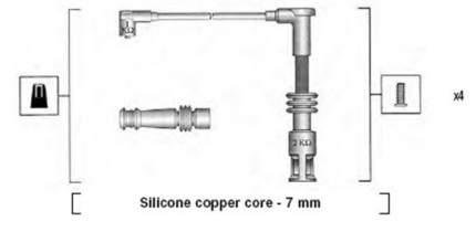 Комплект проводов зажигания MAGNETI MARELLI 941045430528