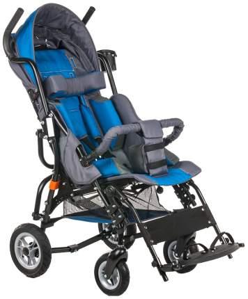 Кресло-коляска Meyra Optimus для детей ДЦП синий-серый цельнолитые
