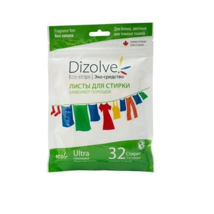 Листы для стирки Dizolve без запаха 32 стирки