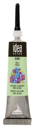 Акриловая краска Maimeri Idea Vetro По стеклу черный M5302530 20 мл