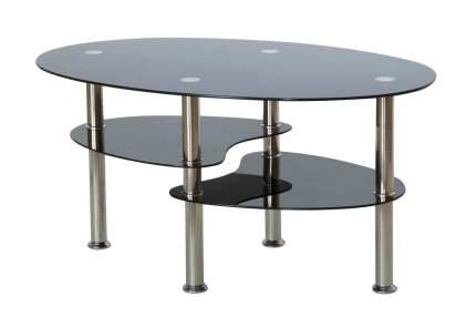 Журнальный столик Hoff Carry II 80319068 90х60х45 см, стальной/чёрное стекло