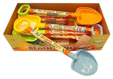 Лопата пластмассовая Junfa Toys AJ008BHпц с выдвижной ручкой 55,5 см