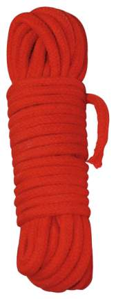 Веревка для шибари Orion хлопковая красная 7 м