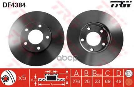 Тормозной диск TRW/Lucas DF4384 передний