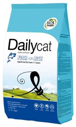 Сухой корм для кошек Dailycat Adult Exi Care 1-7 years, рыба с рисом, 0,4кг